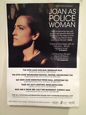 JOAN AS POLICE WOMAN 2014 Australian Tour Poster A3 The Classic Deep Field *NEW*