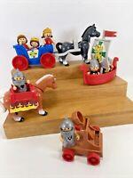 Vintage Play Skool Lot of 15 Li'l Playmates King Queen Princess Knights Horses +