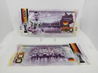 ✔ Russland Souvenir banknote 100 rubles Fifa World Cup 2018 UNC Team Germany