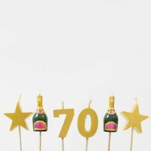 PREMIUM 3D 70th Milestone Cake Candles, Birthday Cake, Cake Topper