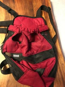Pet Dog Carrier Bag Shoulder/Sling/Net Backpack Legs Out Front/Back Pouch XL