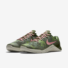 NEW Sz 10.5 WOMEN Nike Metcon 3 AMP Legion Green Melon Training Cross 849808-300