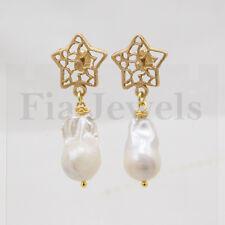 Orecchini Perle Naturali Stelle Filigrana Ottone EARRINGS natural pearls Star