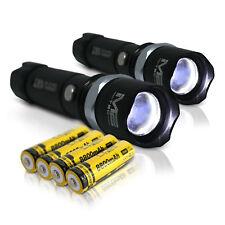 2x Polizei Swat Led Cree Taschenlampe 5000 Lumen inkl 4x Power Akku Ladekabel