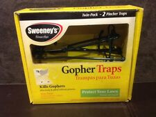 Sweeney's Gopher traps one box with 2 Gopher Pincher Traps - No Poison needed.