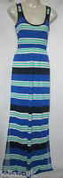 NEW LADIES FRENCH CONNECTION STRIPED JERSEY MAXI BEACH DRESS  SIZE 4  -  10
