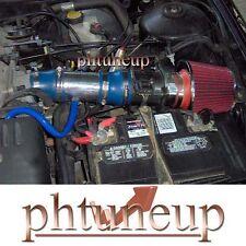 BLUE 1998-2002 MERCURY COUGAR MYSTIGUE 2.5 2.5L V6 AIR INTAKE KIT + RED FILTER