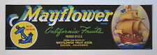 MAYFLOWER Fruit Crate Label - Exeter CA