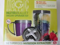 NutriBullet Deluxe Upgrade Kit 5 Piece Set By Magic Bullet NEW! NIB