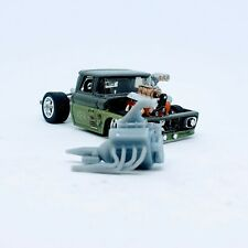 Top Fuel V8-3D Printed 1:64 Scale Engine. For Customizing Hot Wheels / Matchboxs