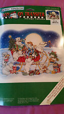 Daisy Kingdom Iron On Transfer - Riding Santa's Sled 0116-05006