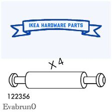 4 IKEA Assembly Dowel Double / Cam Lock Rod 46mm Steel Part # 122356