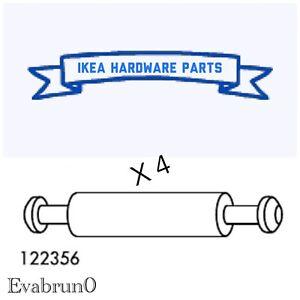 4 IKEA Assembly Dowel Double / Cam Lock Rod 46mm Steel Part # 122356