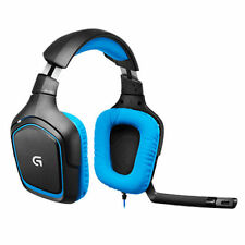 Logitech 981-000537 g430 7.1 Surround Sound Over-Ear Cuffie Gaming Nero/Blu