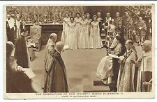 ROYALTY - CORONATION of QUEEN ELIZABETH II  Photochrom Postcard