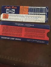 Champion Lamps Light Slide Rule Chart 1954 Perrygraf