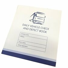 Daily Check Driver Defect Book HGV Truck Van 50 Page Defect fault report booklet