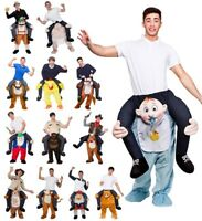 Mens Official Carry Me Fancy Dress Costume Adult Piggy Back Ride On Outfit New