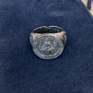 MAGNA CARTA King John Seal Silver Pewter Ring