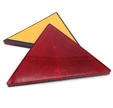 2x Triangular Red Trailer/Caravan Reflectors- Self Adhesive Rear Triangle Pair