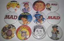 12 MAD Magazine Comic pin button badges 25mm Alfred E. Neuman USA Pop Culture