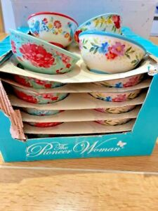 NEW! *THE PIONEER WOMAN* Dipping Bowls / Stoneware / Ceramic / Ramekin / Floral