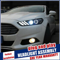 For Ford Mondeo V Headlights 2013-2016 Double Beam Lens Projector Xenon HID Lamp