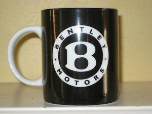 Bentley Motors Coffee Mug Official Collection Black & White EUC