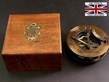 "Sundial Compass 3"" Vintage Brass Nautical Marine Compasses Steampunk Retro Old"