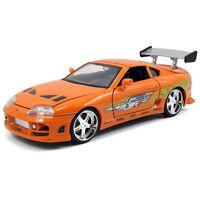 1/24 Jada Fast & Furious Brian's Toyota Supra Diecast Model Car 97168 Orange