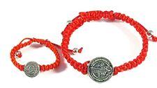Saint Benedict Red Bracelet For Mom and Baby/San Benito Pulsera Para Mama Y Bebe