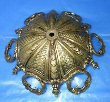LARGE   UNUSUAL  Vintage CHANDELIER   LAMP  CAP   Brass  CENTER   PART