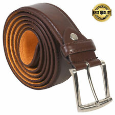 Leatherboss Genuine Leather Men Stylish Casual Jeans Belt , Brown