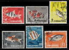 SINGAPORE 1963 - 1966 Old Stamps - Native Fish