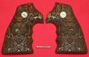 Colt Firearms Python / Officers Model / Official Police Snake Skin Pattern Grips
