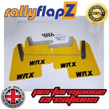 rallyflapZ SUBARU IMPREZA Bugeye (01-07) Mudflaps Yellow WRX Black Polyurethane