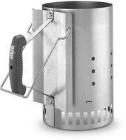 Weber Rapidfire Chimney Charcoal Starter System Ergonomic Handle Grill Lighter