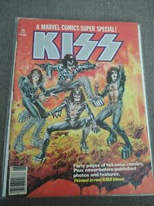 KISS A Marvel Comics Super Special #1 1977 Comic Book Printed in KISS own Blood