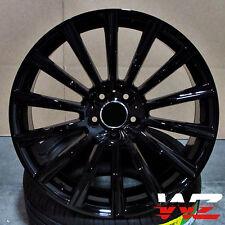 "20"" Twist Style Gloss Black Wheels Fits S Mercedes Class S550 CL Class CL550 E"