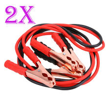 2 x 2.2M 200AMP Jumper Lead Cable Jump Car Booster Cables Heavy Duty Red Black