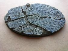 Runic Ruines 1* 170mm * 110mm Oval base  Warhammer Knight 40k Mantic Wolves  etc