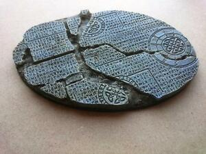 Runic Ruines 1* 170mm * 110mm Oval base War hammer Knight 40k Mantic Wolves  etc