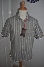 Marks and Spencer Men's Loose Fit Striped Casual Shirts & Tops