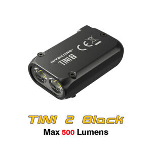 NiteCore TINI 2 Dual-Core Intelligent USB-C Rechargeable Keychain Light - Black