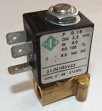 Magnetventil 2/2 Wege direktgesteuert, ODE, 12 VDC, 0-8 bar , 21JN1ROV23