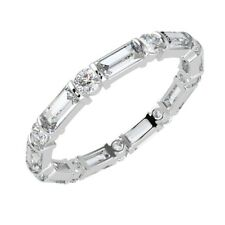 1ct  Round Diamond And Baguette Full Eternity Wedding Ring, Platinum