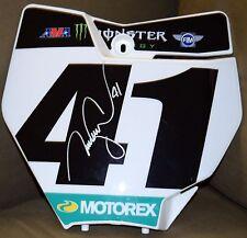 TREY CANARD #41 *Signed Monster KTM Front Number PLATE JSA SX MX Roczen Dungey