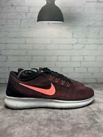 Nike Free RN Womens 831509-008 Black Lava Glow White Running Shoes Size 9