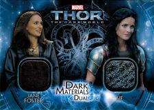 Thor Dark World DMD-3 Costume Memorabilia Card Jane Foster & Sif