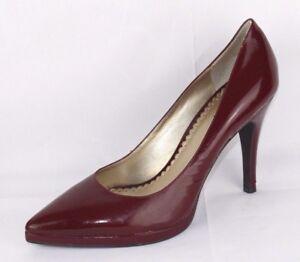 BCBG Paris keylis women's heels stiletto leather upper burgundy size 9 B